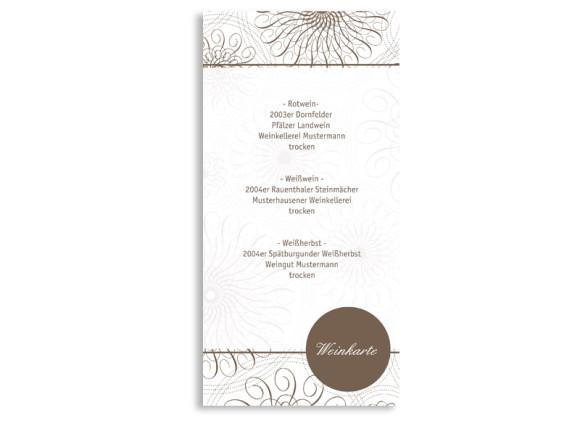 Menükarten zur Hochzeit Mandala (DIN Lang-Karte)