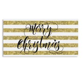 Firmen-Weihnachtskarte Copper (Postkarte DL quer) Gold