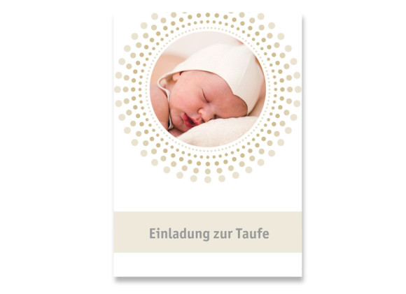 Taufkarte Dolores/Dominik (Postkarte mit Foto)