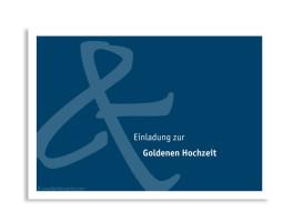 Einladung Bern Goldene Hochzeit (Postkarte)
