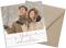 Foto-Weihnachtskarte (Postkarte, quadratisch, sechs Fotos), Motiv: Fröhliche Weihnachten, mit Briefhülle, Farbvariante: altrosa