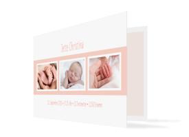 Geburtskarte Jette/Jannik FRESH Apricot