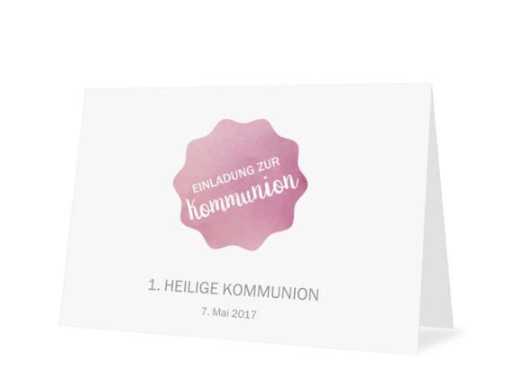 Einladungskarten zur Kommunion Sonne