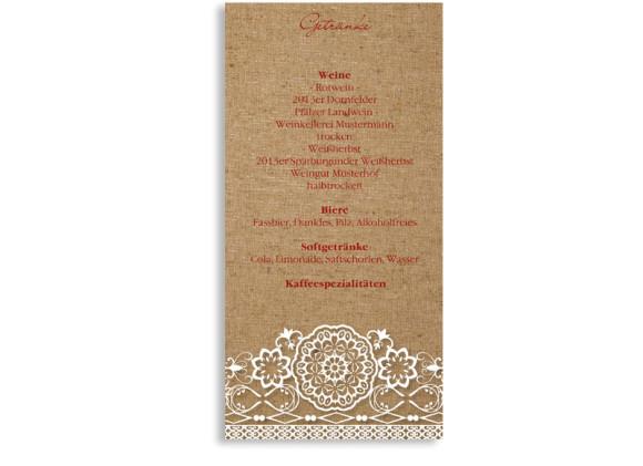Menükarte zur Hochzeit Heidelberg (Postkarte)