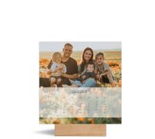 """Foto-Tischkalender """"Transparenz"""" 150x150 mm blau"""