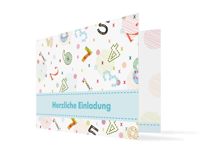 Geburtstagseinladung Zahlen (Klappkarte C6) ...