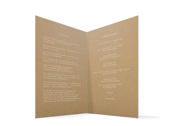 Kirchenheft (Kraftpapier), Motiv: Malaga, Innenansicht, Farbvariante: weiss