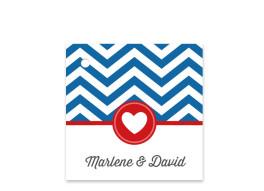 Geschenkanhänger zur Hochzeit Hamptons Heart