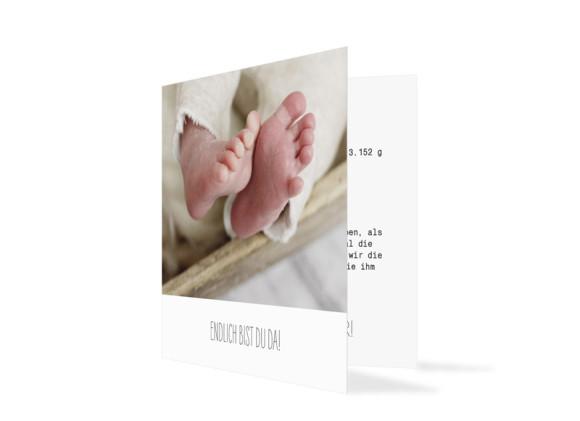 Geburtskarte Fotokarte (quad. Klappkarte)