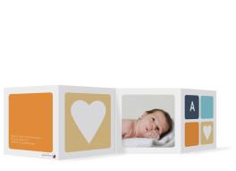 Dankeskarten Geburt Ava/Avery (Leporello)
