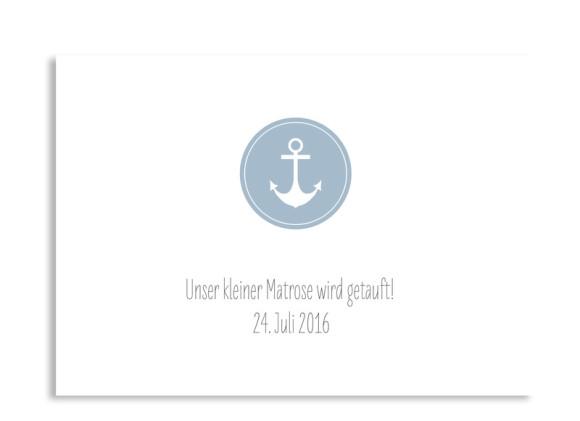 Taufkarte Pure Anchor (Postkarte A6)