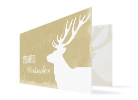 Weihnachtskarte Holy Moose (Klappkarte, DL) Weiß