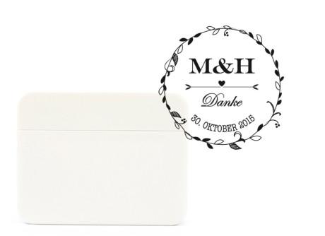 Stempel Hochzeitskranz für Danksagungskarten zur Hochzeit