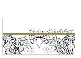 Einladung Silberhochzeit Spitze (Postkarte) Beige