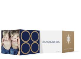 Grußkarte zu Weihnachten Geometrics Dunkelblau