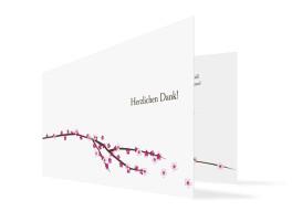 Hochzeits-Danksagungskarte Yokohama (Klappkarte)