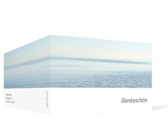 Danksagung Trauer Meer, Außenansicht der Farbversion: weiß
