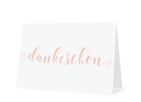 Danksagungskarten zur Konfirmation Calligraphy Apricot