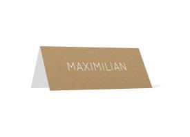 """Tischkarten """"Malaga"""" weiß"""