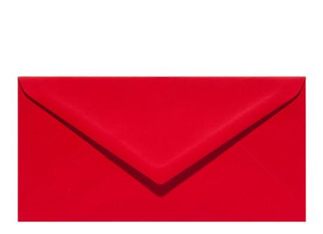 Umschlag im Format DL (220 x 110 mm), red