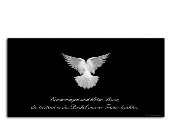 Trauerkarte Taube (Postkarte)