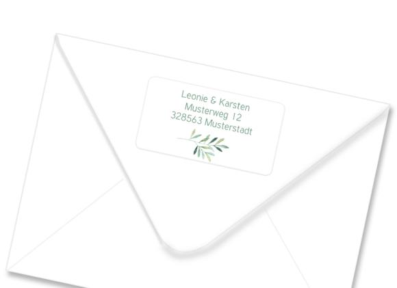 "Adressetiketten ""Blätterkranz"""