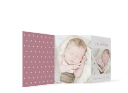 """Karte zur Geburt """"Valentina/Vincent"""""""