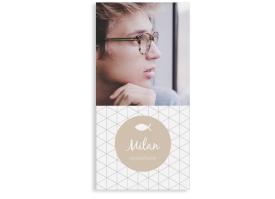 """Konfirmationseinladungen """"Segen"""" (Postkarte mit Foto) beige"""