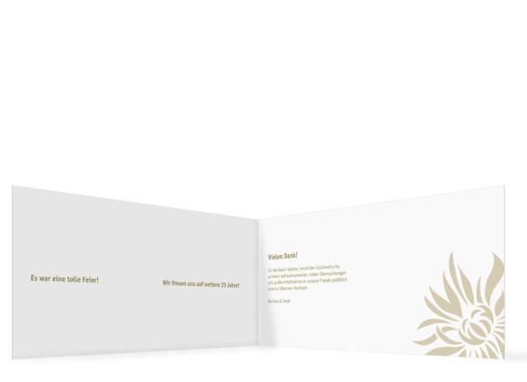 Danksagung zur Silbernen Hochzeit, Motiv Florenz, Innenansicht, Farbversion: beige