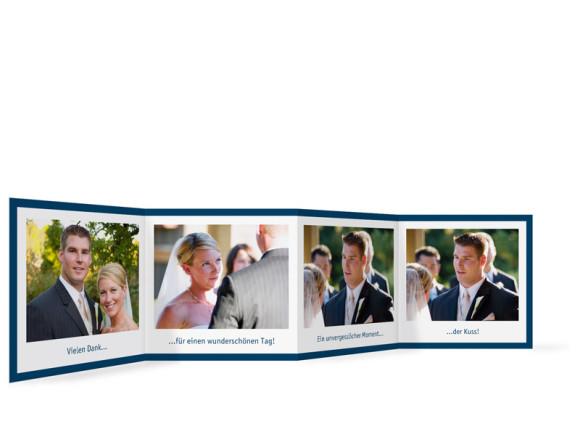 Innenansicht Foto-Leporello, Gastgeschenk, Motiv Bern, Farbversion: blau