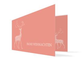 Firmen-Weihnachtskarte Holy Deer Apricot