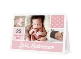 Geburtskarte Lucia/Luca Puder