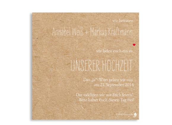 Save the Date Karten Luzern, Rückseite der Farbversion: beige