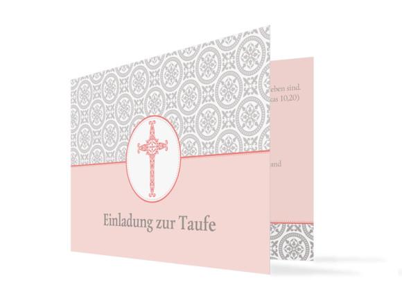 Taufkarte Aurelia/Aurelius (Klappkarte mit Foto)