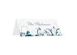 Tischkarten zur Hochzeit Miami (Klappkärtchen quer)