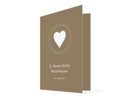 Kirchenheft Hochzeit Pur (Klappkarte) Beige/Weiß