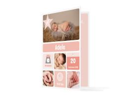Geburtskarte Adele/Augustin (Klappkarte, C6)