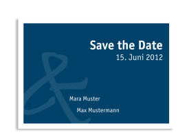 Save-The-Date-Hochzeitskarte Bern (Postkarte A6) Blau