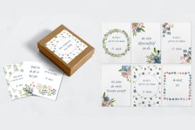 """Meilensteinkarten Schwangerschaft """"Blumenwiese"""""""