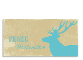 Weihnachtskarte Holy Moose (Postkarte) Blau