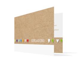 Einladungskarte von ganzem Herzen (Klappkarte) Bunt