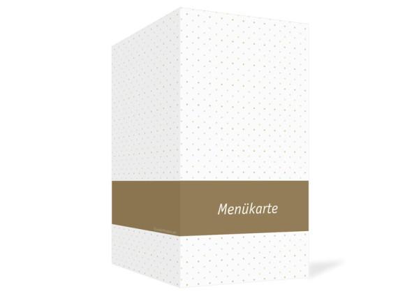 Außenansicht, Menükarte zur Hochzeit (Klappkarte), Motiv Prag, Farbversion: beige