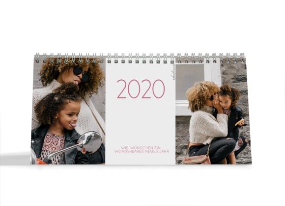 Choose your Pics Fotokalender, Motiv: Jahreszeiten, Innenansicht, Farbvariante: altrosa