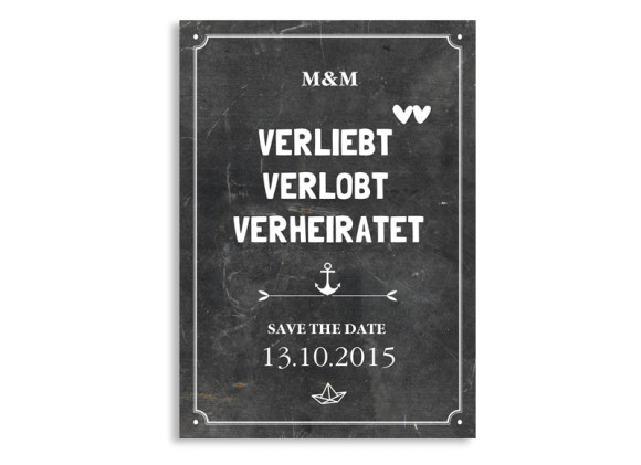 Save the Date Tafel