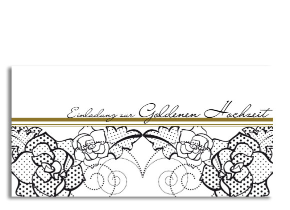 Einladung zur Goldhochzeit Spitze (Postkarte ohne Foto)
