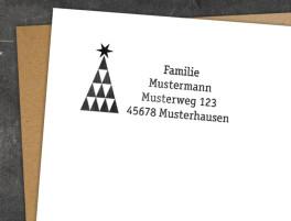 Adress-Stempel Origami (Weihnachten)