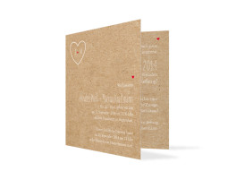 Hochzeitseinladungen Luzern (quad. Klappkarte)