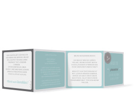 Einladungskarten zum Geburtstag Start Eisblau