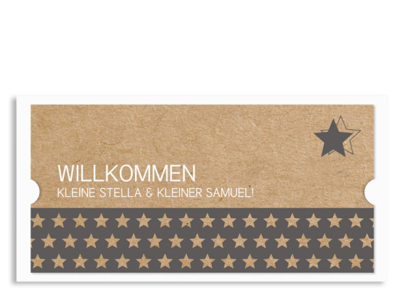 Zwillingskarten Stella/Samuel (Postkarte)