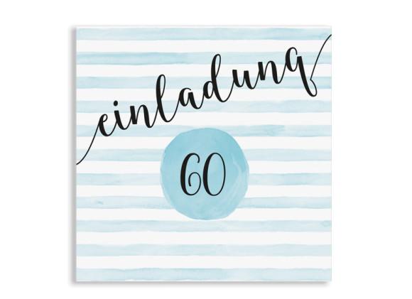 Einladung 60. Geburtstag Dots 'n Stripes